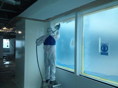 Onsite spraying & metal polishing services